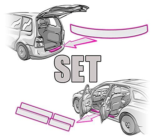 Preisvergleich Produktbild SEAT ATECA Ladekantenschutz + Einstiegsleisten SET + RAKEL + ANLEITUNG in TRANSPARENT Folie - passend für SEAT ATECA – Schutzfolie von CCW©