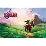 """Póster """"The Legend of Zelda/La Leyenda de Zelda"""" Ocarina of Time/del Tiempo (Nintendo) (91,5cm x 61cm) + embalaje de regalo"""