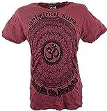 GURU-SHOP, Camiseta Sure T-Shirt Mandala OM, Burdeos, Algodón, Tamaño:XL, Camisetas...