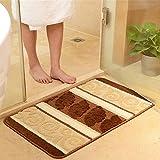 Lx.AZ.Kx Fußmatten Long-Absorbent Rutschhemmend kann in der Maschine gewaschen werden die Küche Fußmatte Die Eingangshalle im Schlafzimmer Bett Matratze die Bäder sind Pin-Pad Espresso Braun, 45 cm * 120 Cm