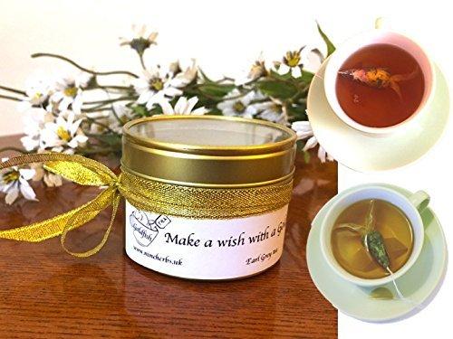 3-goldfish-tea-bags-earl-grey-herbal-tea-make-a-wish-with-goldfish-unique-gift-make-a-wish-gift-birt