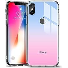 ESR Funda para iPhone X, Cristal Templado [Imita la Parte Posterior del Vidrio del