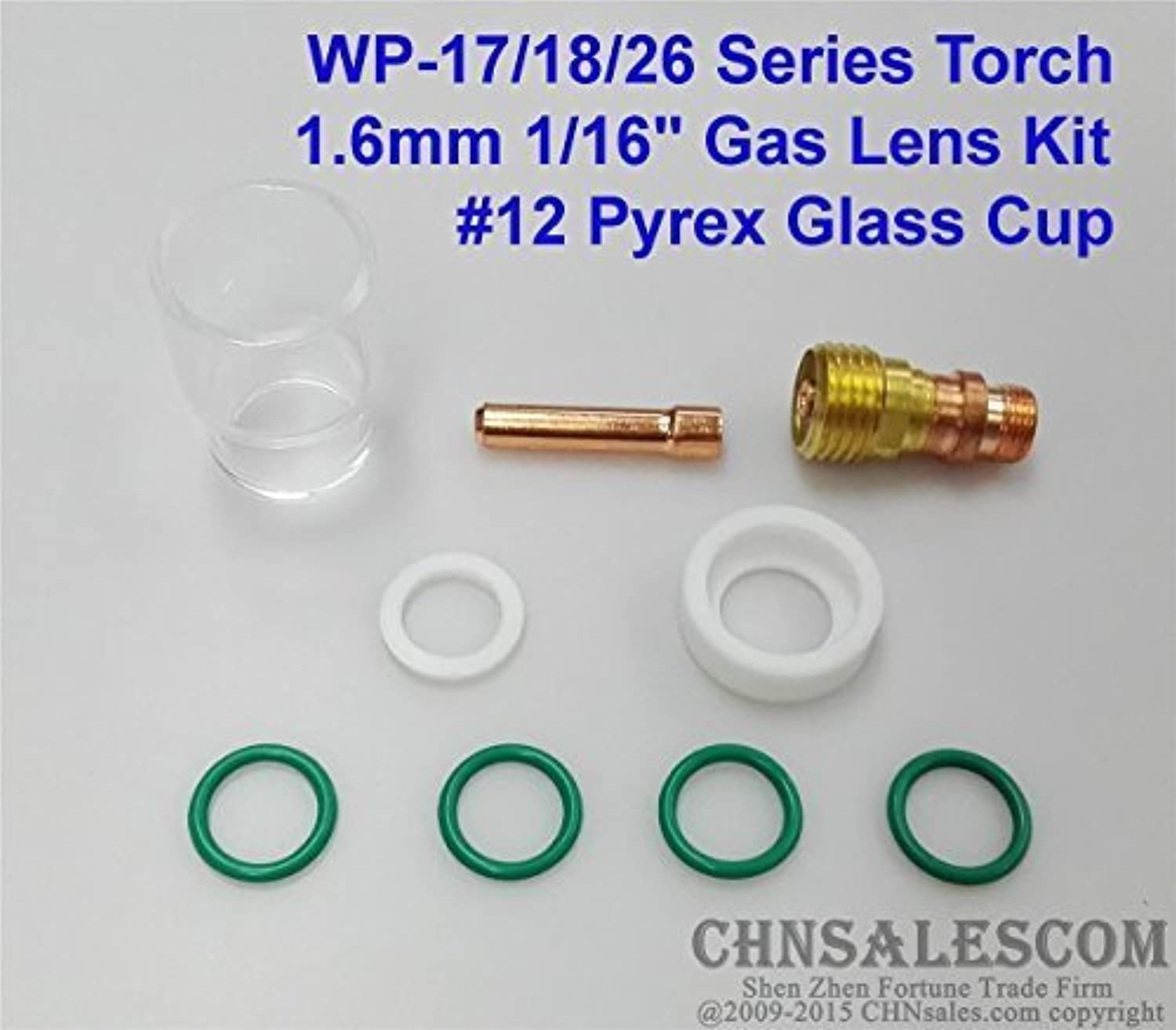 6 PCS #12 Glass Pyrex Cup TIG Welding Torch Gas Lens For WP-9 /& WP-17 Tools