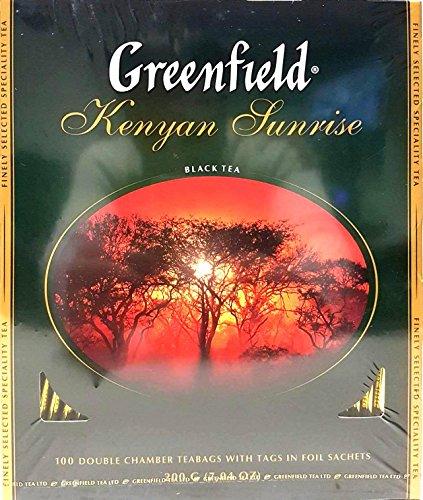 100 x 2g Greenfield Schwarzer Tee - Kenia-Broken Tee im Doppelkammerbeutel EINZEL VERPACKT 200g