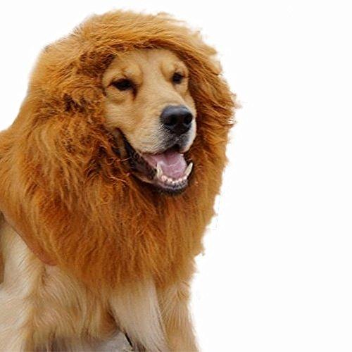 Mengonee Haustier Hund Lion Perücken Mane Haar Festival Partei-Abendkleid-Kleidung-Kostüm