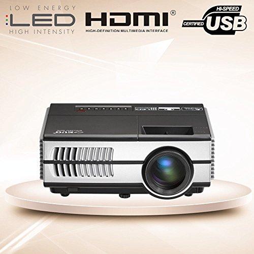 Mini LED Beamer Tragbar LCD Videoprojektor Heimkino 1500 Lumen HDMI VGA USB TV Spiele Xbox