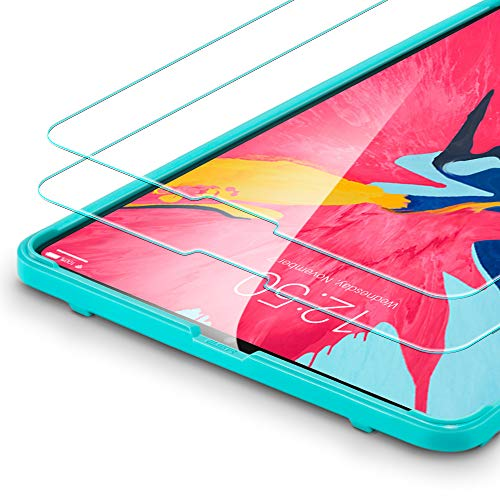 ESR Displayschutzfolie [2 Stück] Kompatibel mit iPad Pro 11 Zoll 2018 Modell -[mit Montage Werkzeug]- Premius 9H Hartglas Displayschutz Folie [HD Kristallklar Blasenfrei Kratzfest]