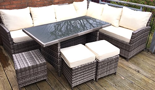 MMT Rattan Garden Furniture L Shaped ...