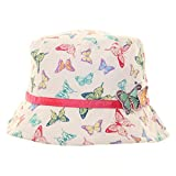 Girls Cotton sun hat - Butterfly print and detail (53cm (ages 4-5))