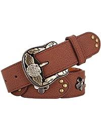 Cinturon de mujer Flor Remache Conjunta Retro Cinturón Rojo 79bf2c072e7c