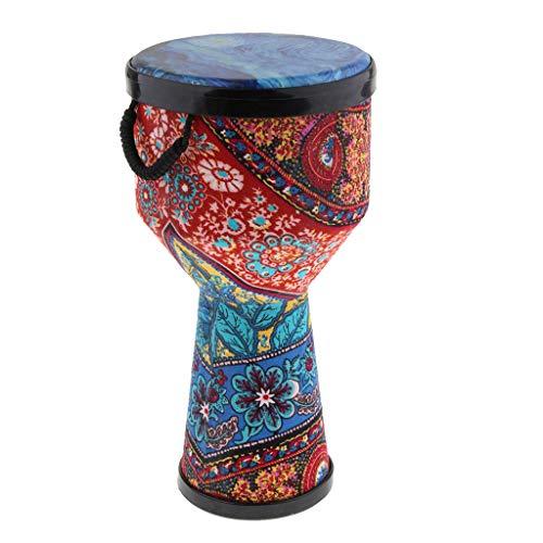 FLAMEER 8-Zoll Afrikanische Bongo Handtrommel Djembe Musikalische Hand Perkussionsinstrument