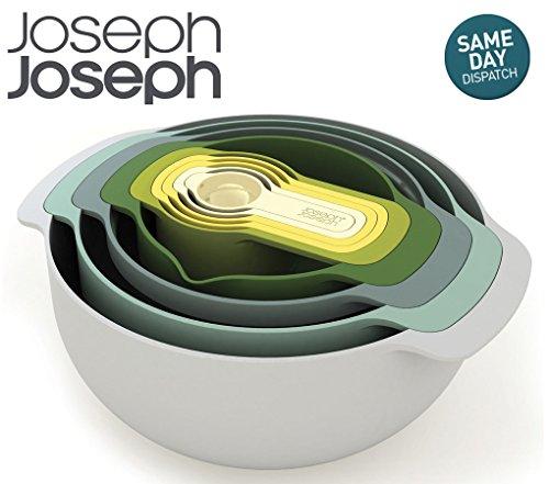 joseph-joseph-nest-9-plus-compact-food-preparation-set-opal-measuring-cups-sieve-etc-9-pieces-boxed