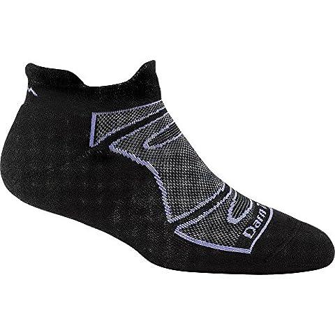 Darn Tough Vermont Women's Merino Wool No-Show Ultra-Light Cushion Athletic Socks, Black/Periwinkle, Small