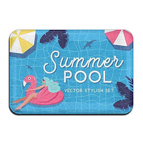 REOLITUY Felpudo antideslizante para puerta, diseño de piscina de verano, decoración del hogar, interior...
