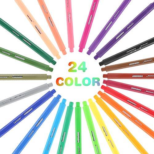 Venta de Liquidación!! Rotuladores Punta Fina/rotuladores - 24 Colores únicos Bolígrafo Fineliner 0.4 mm, Perfectos para Escribir en Un Cuaderno Diario