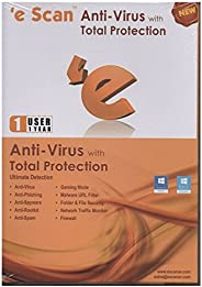 eScan Antivirus with Total Protection - 1 PC, 1 Year (CD)
