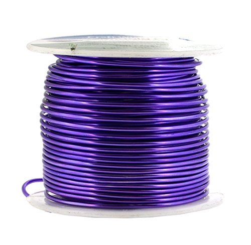 Mandala Crafts® Colored Aluminum 16 Gauge Jewelry Making Beading Craft Wire, 100 Ft (Purple) by Mandala Crafts -