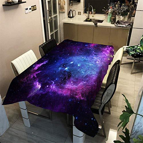 Space Vintage Kostüm - SONGHJ Polyester Space Galaxy Stars Halloween Tischdecke 3D Druck Waschbar Staubdicht Verdicken Tischdecke Rechteckige Küchentischdecke B 40x40cm