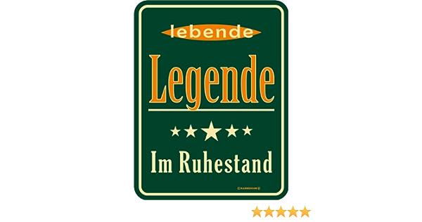 Geburtstag Fun Schild Blechschild bedruckt Geschenk Update im Ruhestand