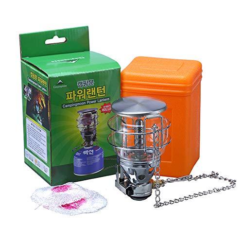 Lampe-glas-schornsteine (Tragbare Outdoor Mini Camping Gas Licht Zelt Lampe Taschenlampe hängen Glas Lampe Schornstein mit Butan als Brennstoff - 100LUX)