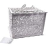 Tinaa Boîte à Cartes de Mariage avec Serrure Urne Mariage en Bois-Boîte de Décoration de Mariage