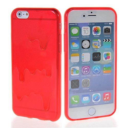 "MOONCASE iPhone 6 Case Sexy Motif Conception Gel TPU Silicone Housse Coque Etui Case Cover pour iPhone 6 (4.7"") Rouge"