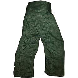 Pantalones tailandeses Panasiam, clásicos, en las tallas S, L y XL, en 13colores diferentes, con bolsillo, auténticos y de lana grauton L