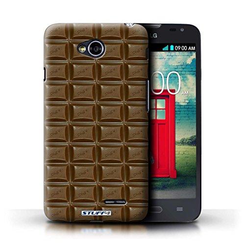 Kobalt® Imprimé Etui / Coque pour LG L70/D320 / Doigts/Sticks conception / Série Chocolat Blocs Dairy Milk/Dalle
