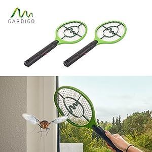 Gardigo - Set de 2 Raquettes électriques Anti-Moustiques, Anti-Insectes, Tue Mouches et Insectes Volants; Testée et certifiée par l'Université d'État du Nouveau-Mexique