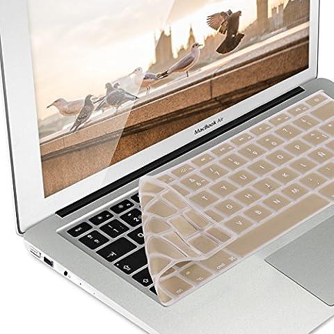 kwmobile Protección de silicona para teclado QWERTY (España) para Apple MacBook Air 13''/ Pro Retina 13''/ Pro Retina 15'' oro