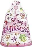 Unique Party - Cappelli per festa, motivo: principessa, confezione da 8