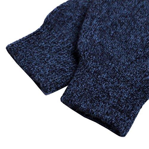 Larcele Gants sans coutures pour femme Cashmere BZST-02 Foncé Bleu