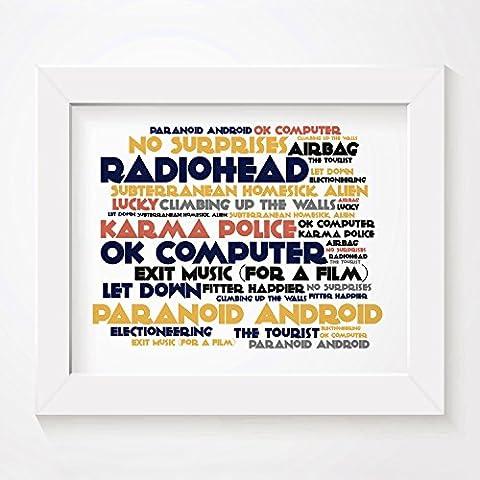 'Cadence` Poster Affiche d'art - RADIOHEAD - OK Computer -