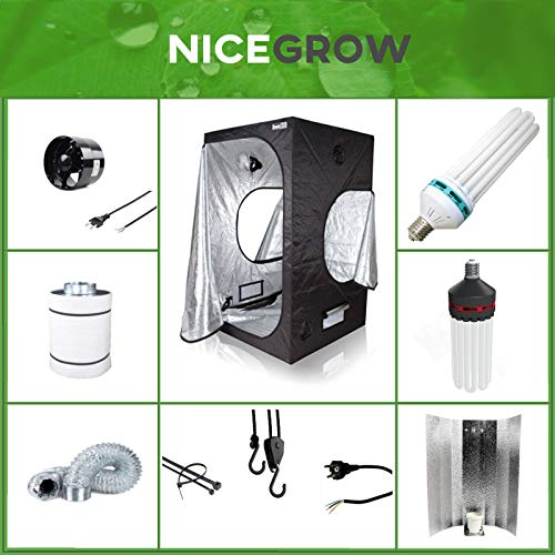 Growset 60 Dark Box ESL 125W Wuchs und Blüte Komplettset Set Grow ESL