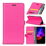 FugouSell (for Samsung Galaxy Note 9) Flip PU Leather Flip Case Wallet Case Cover and 360 Degree Full Body Protective Bumper CoverPremium Leather iPhone Cases Material - Rosy