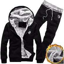 Herren Hoodie Jakce Kapzuenpullover Hosen Set Bekleidung Loveso Männer Faux Vlies Sportswear Hooded Pullover Herbt Winter Kleidungset