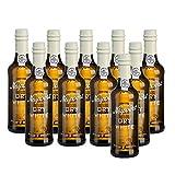 10er SET Portwein Dry White 0,375 l Flasche / Douro - Port