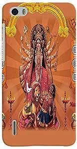 PrintVisa Religious Durga Case Cover for Huawei Honor 6