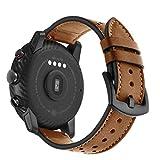 Hunpta@ Für HUAMI Amazfit Stratos Smart Watch 2/2S Mode Sport Leder Armband mit Metallverbindern (22 mm) (Braun)
