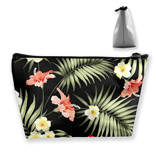 Hawaii Hawaiian tropische Blumen und Dschungel Palmen Make-up Pouch Kulturbeutel Lagerung Kosmetiktasche Organizer Clutch - Dschungel-palme