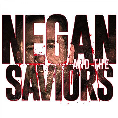 Fashionalarm Herren T-Shirt - Negan And The Saviors | Fan Shirt zur Serie T-W-D als Geschenk Idee | Dead Walking Negan Rick Daryl Glenn Weiß