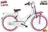Spirit Mädchenrad Cargo N3 Weiß-Rosa 24 Zoll