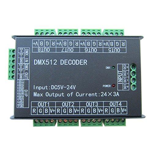 Rokoo 24 Kanal 3A / CH DMX512 Controller Led Decoder Dimmer Für RGB LED Streifen Modul DC5V-24V