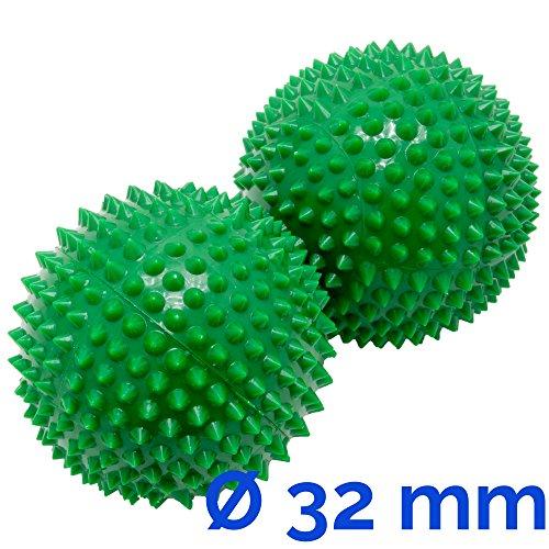 Magnet Akupunktur Akupressur Massage Kugeln | 2er Set | Ø ca. 32mm | grün