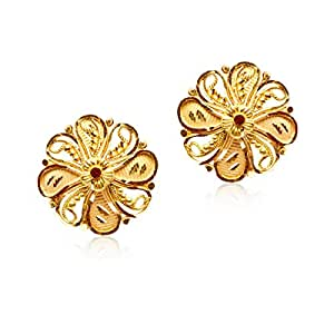 Senco Gold 22k (916) Yellow Gold Pasha Stud Earrings