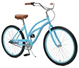 Critical Cycles 2346 Chatham Strand Cruiser für Damen - Himmelblau, 3-Gang/26 Zoll