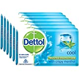 Dettol Cool Soap - 125 g (Pack of 6)