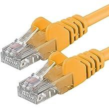 1aTTack - Cable de red UTP con conectores RJ45 (cat. 6, 20m), color amarillo