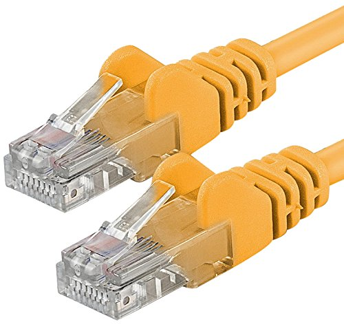 Preisvergleich Produktbild 1aTTack CAT6 2x RJ45 Stecker UTP Netzwerk Patch-Kabel 20m gelb