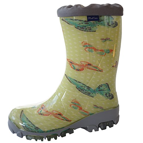 Muflon Girls Wellies Kids Children Boys Rainboots Unisex Wellington Boots